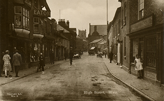 Wem High Street, early twentieth century